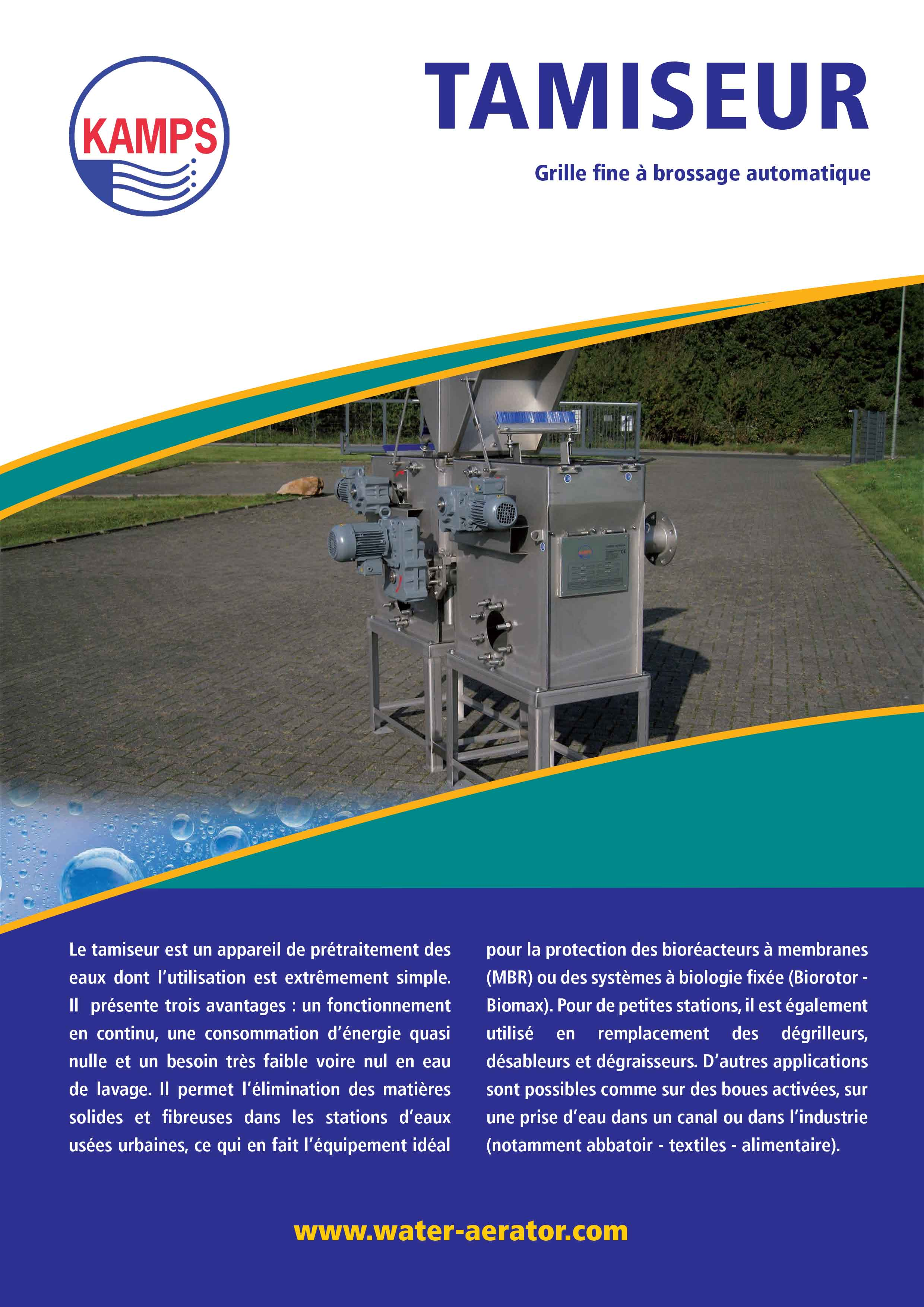 Brochure Tamiseur FR cover